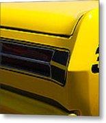 Panoramic Yellow Duster Metal Print