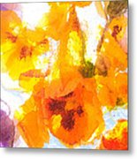 Pansy Flowers Metal Print