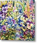Pansy Path Metal Print by Ann  Nicholson