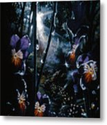 Pansy Path Metal Print by Lynette Yencho