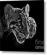 Panting Beauty Metal Print by Ashley Vincent