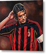 Paolo Maldini Metal Print by Paul Meijering