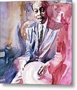 Papa Jo Jones Jazz Drummer Metal Print by David Lloyd Glover