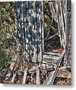 Papa Sandy's Storage Shed Metal Print by James Woody