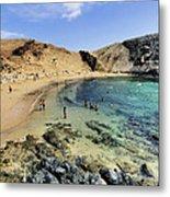 Papagayo Beach On Lanzarote Metal Print