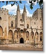Papal Castle In Avignon Metal Print by Inge Johnsson