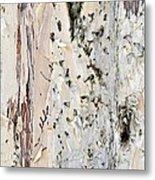 Paper Bark Astract Metal Print