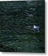 Paper Boat Metal Print by Joana Kruse