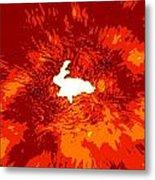 Paper Bunny Rabbit Metal Print
