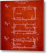 Paper Currency Patent From 1962 - Red Metal Print