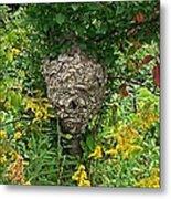 Paper Hornet Nest Metal Print