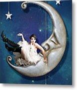 Paper Moon Metal Print by Linda Lees