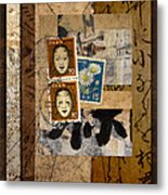 Paper Postage And Paint Metal Print