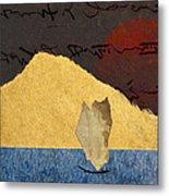 Paper Sail Metal Print by Carol Leigh