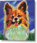 Papillion Puppy Metal Print