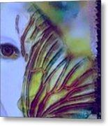 Papillon Bleu Metal Print
