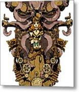 Papillon Mecaniques Metal Print