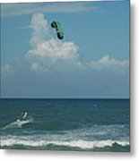 Para Surfing The Atlantic Metal Print