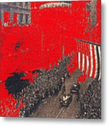 Parade Honoring General Eisenhower On June 29 1945 In New York City Metal Print