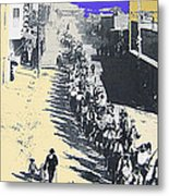 Parade Honoring General Nelson A. Miles  11-08-1887 Geronimo's Capture Tucson Color Added 2008 Metal Print