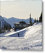 Paradise Found And Lost - Mt. Rainier Metal Print