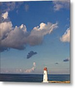 Paradise Island Lighthouse Metal Print by Stephanie McDowell
