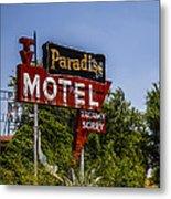 Paradise Motel Metal Print
