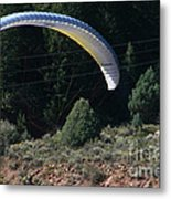 Paragliding Hazards Metal Print