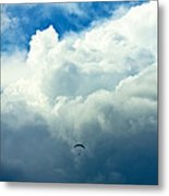 Paragliding In Changing Weather Metal Print by Viacheslav Savitskiy
