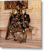 Parasol Lovers  Metal Print