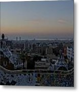 Parc Guell At Sunrise Metal Print