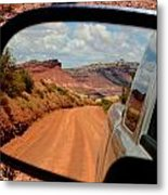 Paria In My Rearview Metal Print by Carrie Putz