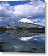 Parincota Lauca National Park Andes Metal Print