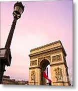 Paris - Arc De Triomphe  Metal Print