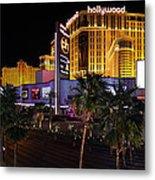 Paris And Planet Hollywood - Las Vegas - 01131 Metal Print