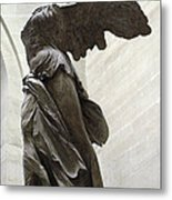 Paris Angel Louvre Museum- Winged Victory Of Samothrace Metal Print