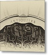 Paris Antique Store Sign Metal Print
