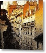 Paris Apartment View Of Montmartre Metal Print