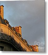 Paris At Sunset Metal Print