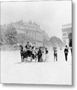 Paris Avenue Foch, C1895 Metal Print