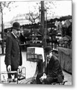 Paris Bird Vendors, 1900 Metal Print