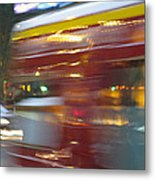 Paris Bus Pont Au Change  Or One Half Step Away From The Hereafter Metal Print