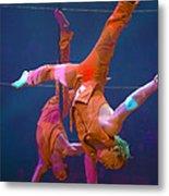 Paris Circus Acrobats Metal Print