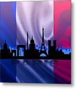 Paris City Metal Print