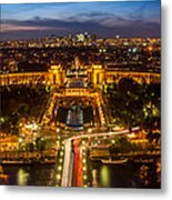 Paris City From The Eiffel Tower Metal Print