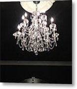 Paris Crystal Chandelier - Paris Black And White Chandelier - Sparkling Elegant Chandelier Opulence  Metal Print