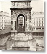 Paris Fountain, C1858 Metal Print