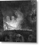Paris, France Fire, 1773 Metal Print