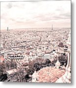Paris From Above - View From Sacre Coeur Basilica Metal Print
