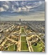 Paris From Eiffeltower Metal Print